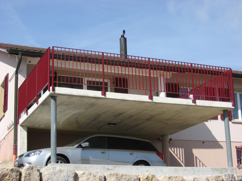 J cl perrenoud barri re de terrasse thermolaqu e - Barriere de terrasse en fer ...