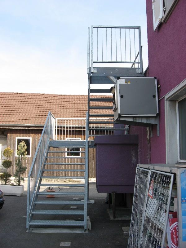 j cl perrenoud escalier ext rieur zingu. Black Bedroom Furniture Sets. Home Design Ideas